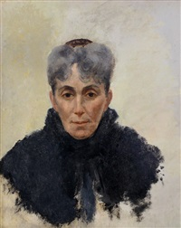 portrait of woman in black by claude emile schuffenecker