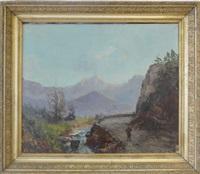 chemin le long du ruisseau by emile godchaux