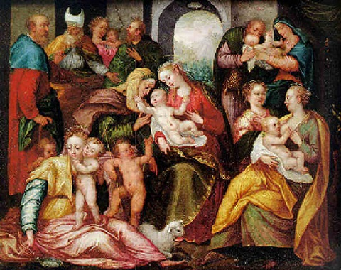 The Madonna And Child With St Anne Surrounded By Scenes From The
