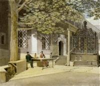 unterhaftung im hof einer villa by eduard gurk