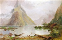 mitre peak and milford sound by james peele
