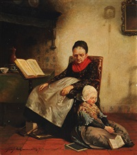 reading together by jozef willemszoon hoevenaar