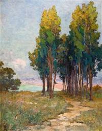 paysage aux arbres by alexandre rigotard