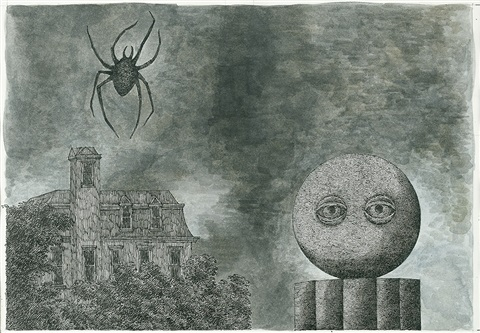 the specter from the magicians museum by edward gorey