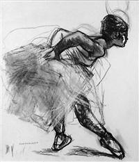 révérence de la jeune danseuse en tutu by lucien joseph fontanarosa