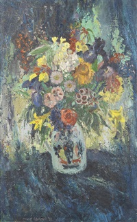 still life of flowers in a jug by mary nicol neill armour