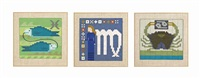 signs of the zodiac: three mosaics (3 works) by lucienne day