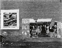 allie mae burroughs, wife of a cotton sharecropper, hale county, alabama * birmingham steel mill and workers houses, alabama * minstrel showbill, alabama (3 works) by walker evans