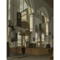 interior of the oude kerk, delft by hendrick van streeck