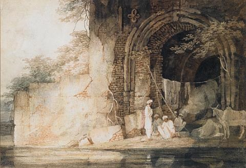 indians sheltering in a gateway by charles sir doyly