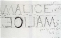 drawing for malice by bruce nauman