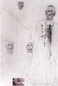 soldier and three ladies (from dreaming and reality series) by jiri anderle