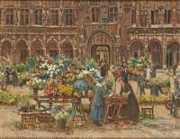 marché aux fleurs à la grand-place de bruxelles by ketty gilsoul-hoppe