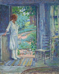 young girl in a white dress by harriette bowdoin