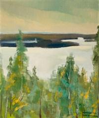 view over the lake by eero nelimarkka