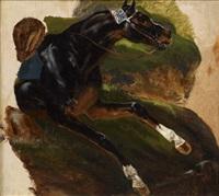un cheval de course (study) by pierre-francois lehoux