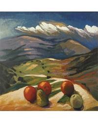 landscape with apples by takeshiro kanakogi