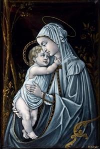madone à la roseraie, d'après sandro botticelli (1445-1510) by paul constant soyer