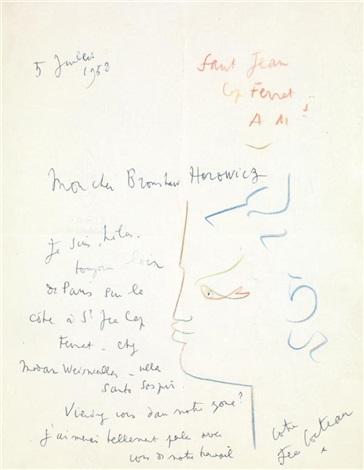 portrait dhomme by jean cocteau