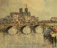 bridge across the seine by jean remy