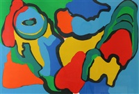figural composition by karel appel