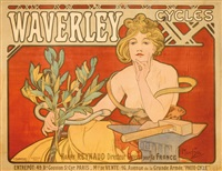 waverley cycles by alphonse mucha