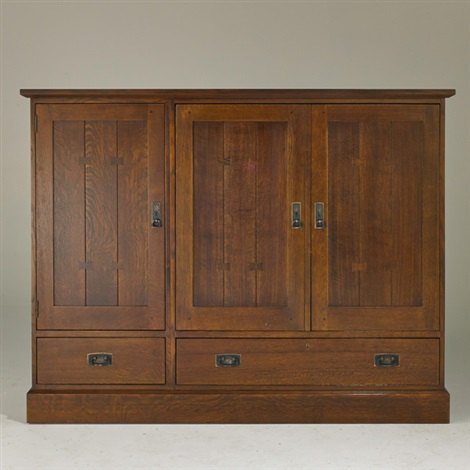 Contemporary Media Cabinet With Three Doors Over Two Drawers By Stickley,  Audi And Co.