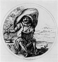characters from the comedia dell'arte by gaetano piccini