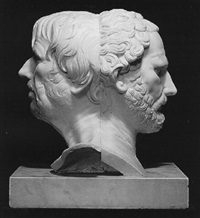a double headed bust of brutus and seneca (man of thought and man of action) by anglo-italian school (18)