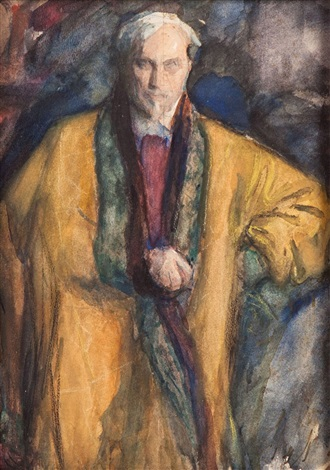 self portrait in a yellow sheepskin coat by leonid osipovich pasternak