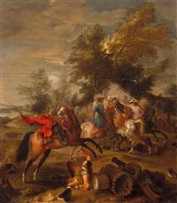 battaglia di cavalieri by francesco giuseppe casanova