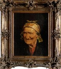 anciana con pañuelo by roman arregui