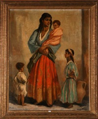 famille marocaine à fez by charles ernest smets