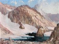 le lac glacé de la grande valloire by etienne albrieux