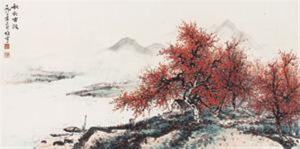 秋郊古渡 by li xiongcai