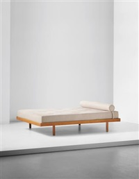 double bed, designed for la chambre d'étudiant de la maison du brésil, cité internationale universitaire de paris by charlotte perriand