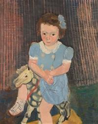 portrait de la petite roberte mestdagh by edgard tytgat