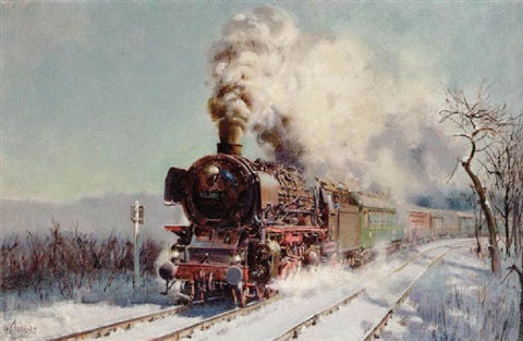 winter express by terence cuneo
