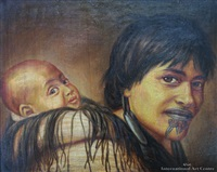 ana rupene & child by gottfried lindauer