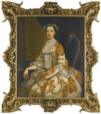 portrait of lady anne chichester, countess of barrymore by philip hussey