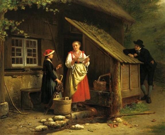 ankunft des besuchs by theodore bernard de heuvel