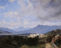 view of patzcuaro by jean baptiste louis (baron gros) gros