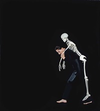carrying the skeleton i by marina abramović