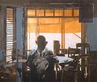 mann ved vindu by benjamin bergmann