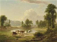 view of esopus creek, ulster county, new york by asher brown durand