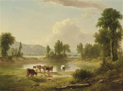 view of esopus creek ulster county new york by asher brown durand