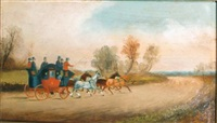 carriage scenes (set of 3) by philip h. rideout