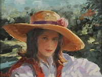 girl in the straw hat by ken hamilton