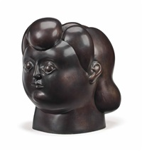 head of a woman by fernando botero