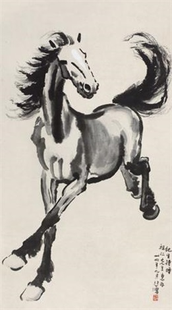 奔马 horse by xu beihong